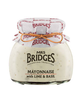 Lime-Basil Mayonnaise Mrs Bridges 180g - Mustards, chutneys and mayonnaise - MB9600 - 1