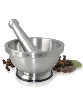 Mortar and Pestle Stainless Steel - Grates, Peelers & Cutters - VNBQFIH020 - 1