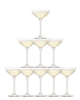 Champagne Glas set 235ml LSA Tower 10 pcs - LSA Champagne Glasses - G1148-08-301 - 1