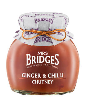 Ginger & Chilli Chutney Mrs Bridges 295g - Mustards, chutneys and mayonnaise - MB8502 - 1
