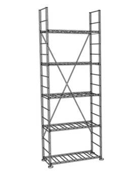 Wine Cellar Shelf La Cave H1 175cm - Wine Cellar Shelves - 095472 - 1