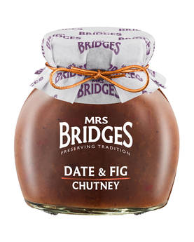 Date & Fig Chutney Mrs Bridges 295g - Mustards, chutneys and mayonnaise - MB8503 - 1